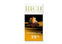 Горький шоколад Rich с орехами, 70г