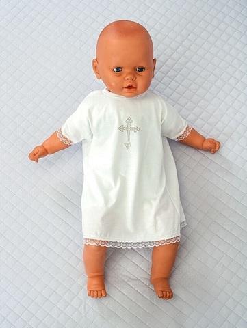 Рубашка для крещения младенца айвори