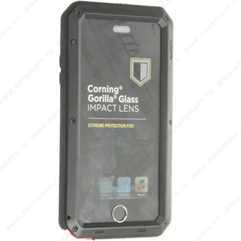 Чехол-противоударный LUNATIK для Apple iPhone 6s Plus/ 6 Plus металлический бронированый черный