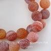 Бусина Агат цветочный матовый (тониров), шарик, цвет - коричневый, 10 мм, нить