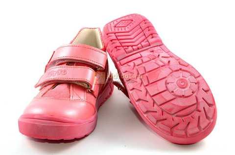 Ботинки Тотто из натуральной кожи на липучках демисезонные для девочек, цвет розовый. Изображение 8 из 12.