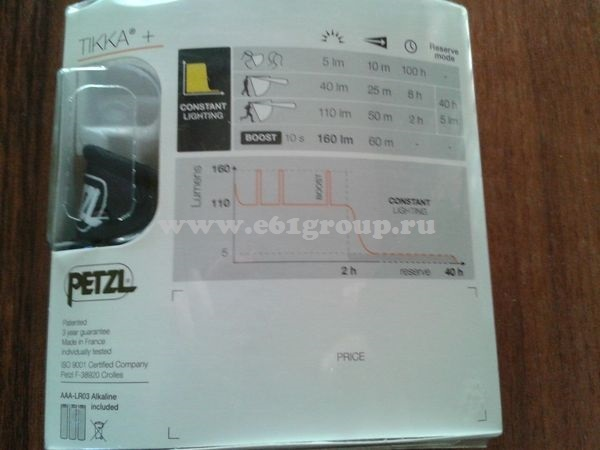светодиодный фонарь Petzl TIKKA+ стоимость