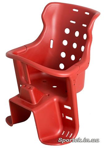 Детское велосипедное кресло для детей от 2 до 5 лет и весом до 20 кг - красное