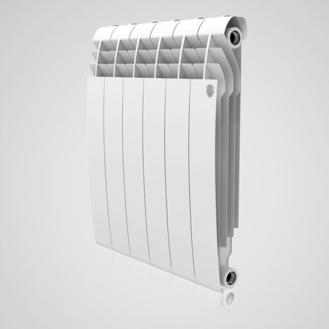 Радиатор биметаллический Royal Thermo Biliner Bianco Traffico (белый)  - 12 секций