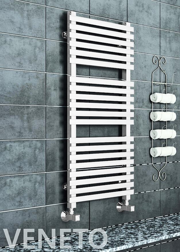 Veneto E - белый электрический дизайн полотенцесушитель