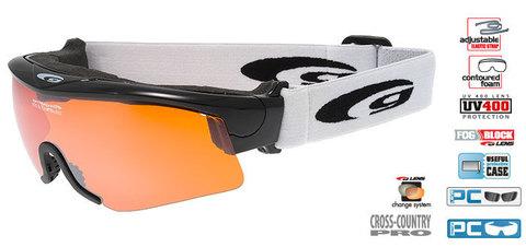 Очки-маска goggle линия PROVO черно-оранжевые