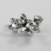 "Бусина 3D ""Мишка"" (цвет - античное серебро) 14х12 мм"