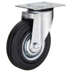 Колесо для тележки SC 160, повор, литая резина, без торм, 160мм