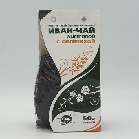 Иван-чай листовой с облепихой ОБРАЗ ЖИЗНИ, 50 гр