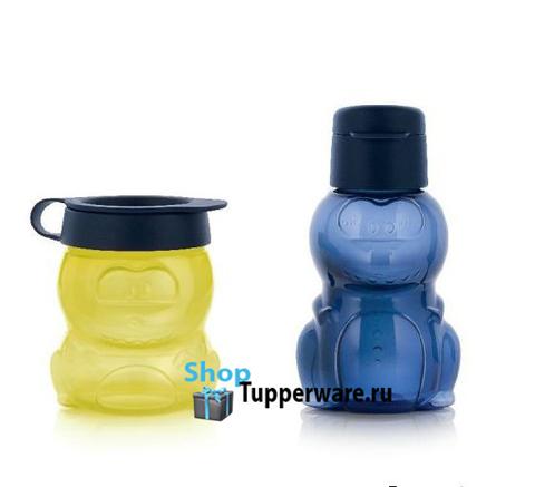 Эко бутылочка и стаканчик Динозаврик Tupperware