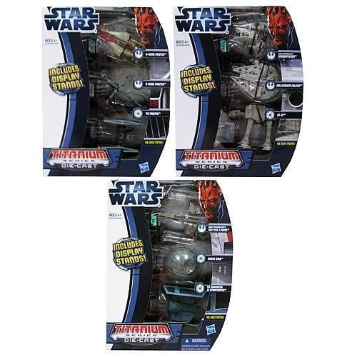 Star Wars Die Cast Titanium Vehicles Wave 02