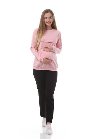 Джемпер для беременных и кормящих 10509 розовый
