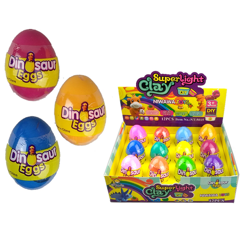 Набор пластилина в среднем пластиковом яйце CLAY DOLL 1кор*1бл*12шт