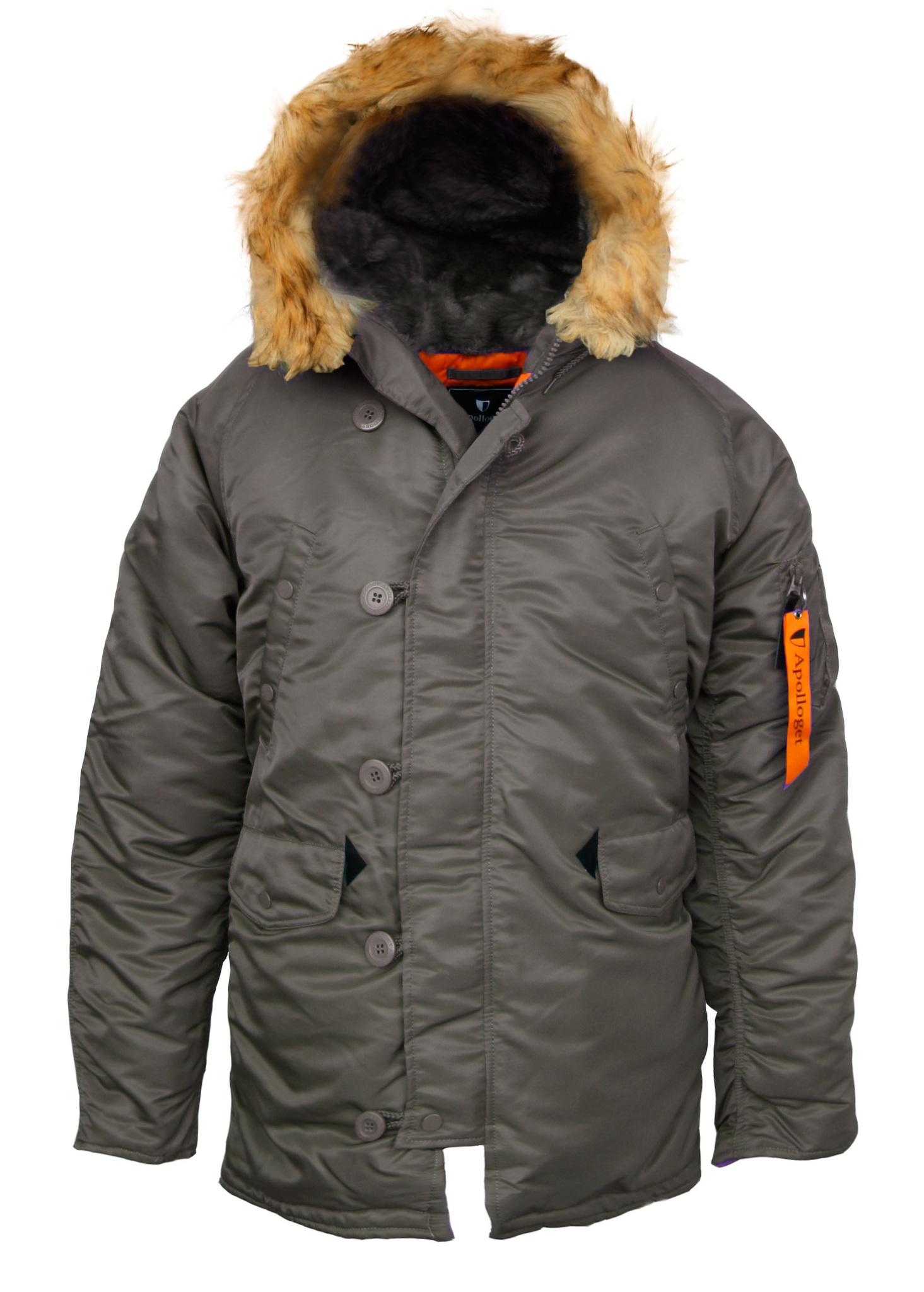 Куртка Аляска  N-3B  Husky Apolloget 2017 (серый - r.grey/orange)