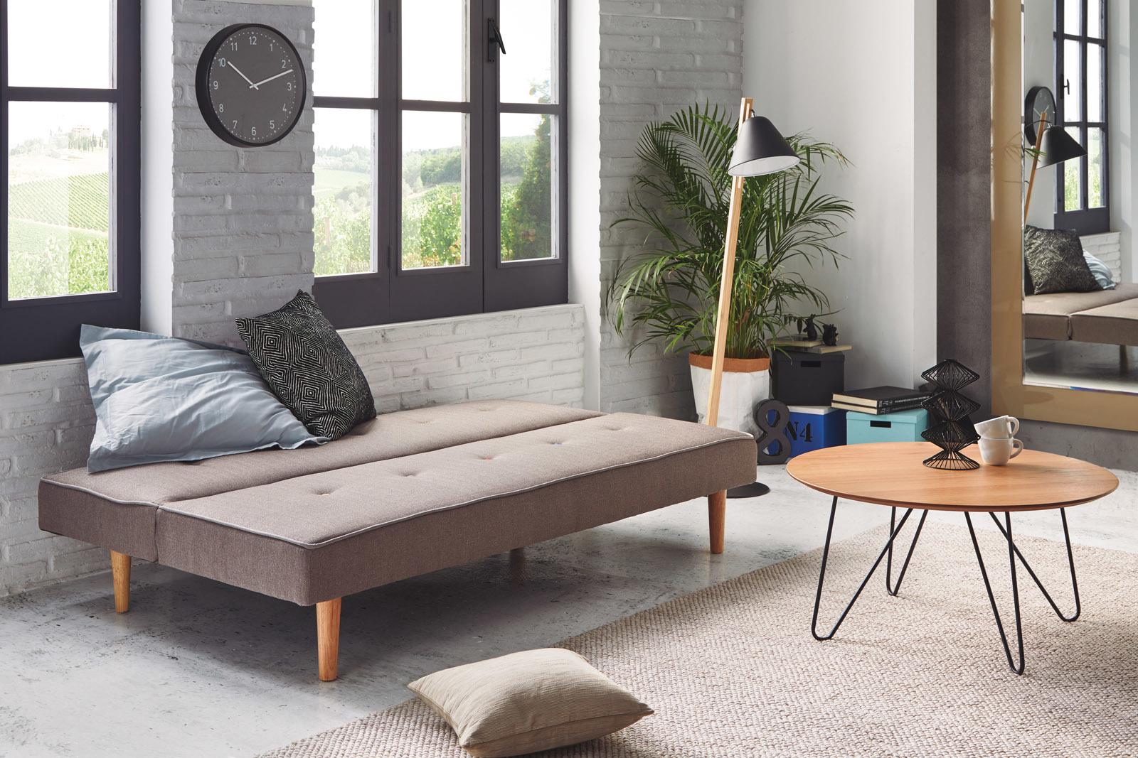 Диван-кровать DUPEN MILANO Серый в разложенном состоянии