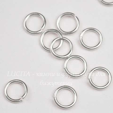 Колечко одинарное TierraCast 5,5х0,8 мм (цвет-серебро), 10 штук