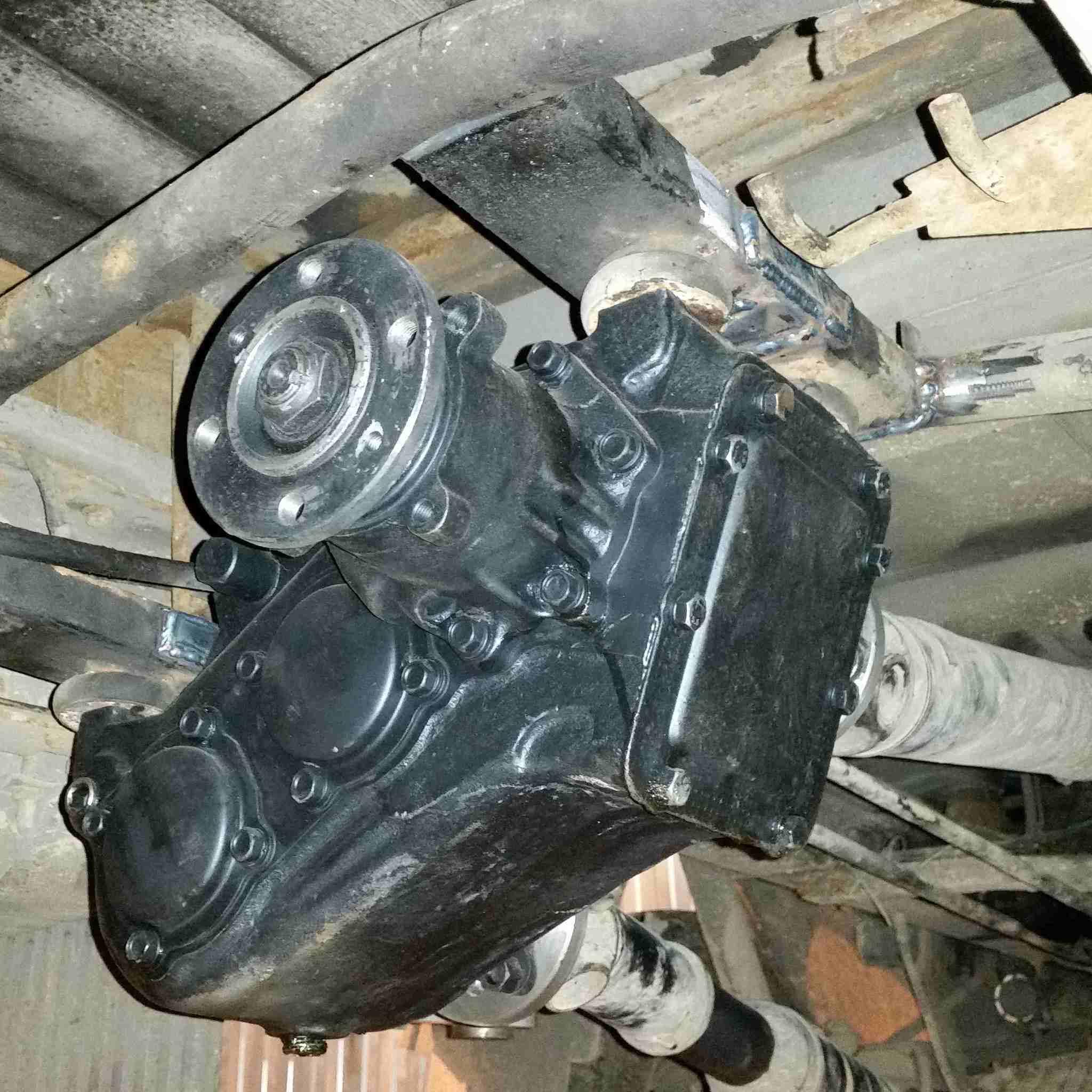 Установка раздаточной коробки ГАЗ 66 на ГАЗель 4х4 фото-1
