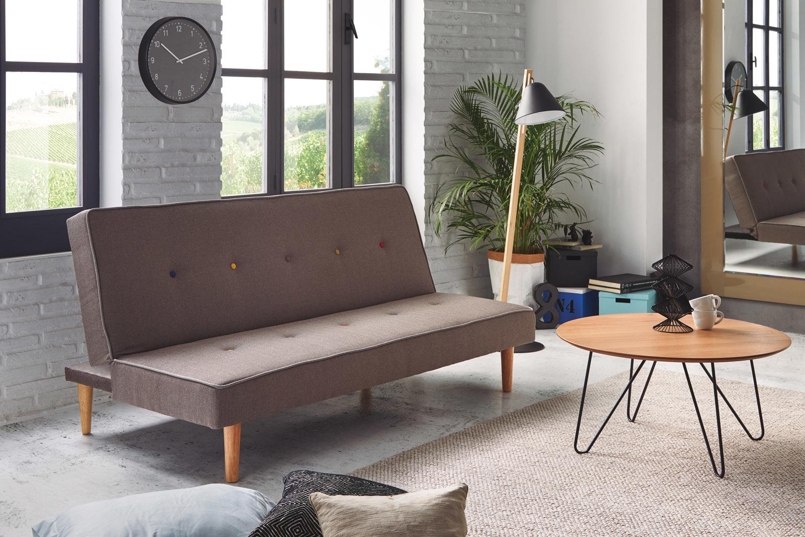 Диван-кровать DUPEN MILANO Серый в сложенном виде