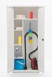 Шкаф медицинский металлический МЕТ ЭССЕН 2МУ, для уборочного инвентаря, разборный