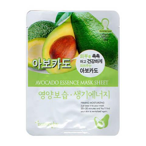 Natureby Тканевая питательная маска для лица с экстрактом авокадо 30г