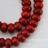 Бусина Говлит (искусств, тониров), рондель, цвет - красный, 10х6 мм, нить