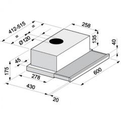 Вытяжка Korting KHP 6211 X - схема