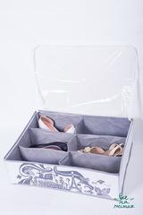 кофр для обуви на 6 пар, вечер в париже