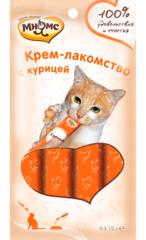 Мнямс Крем -лакомство для кошек с курицей 4*15гр