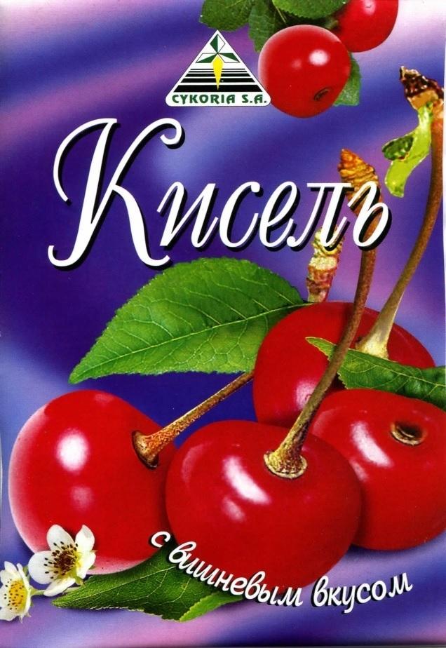 Кисель с вишневым вкусом, 90 гр.