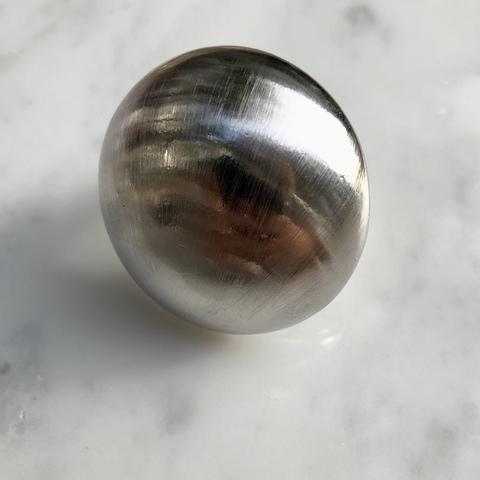 Кольцо Полусфера, серебряный цвет