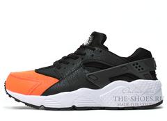 Кроссовки Женские Nike Air Huarache Black Orange