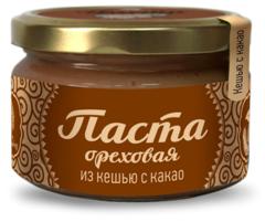 Паста ореховая, Сибирский Кедр, из обжаренных ядер кешью с какао, 250 г.