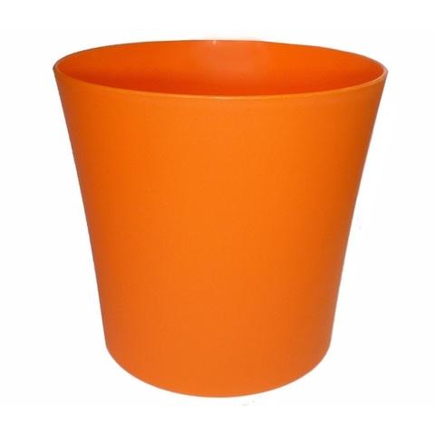 Горшок для цветов пластиковый малиновый без поддона