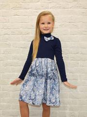 382ФД-4 платье детское, темно-синее
