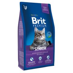 Brit NEW Premium Cat Senior курица и печень для пожилых кошек