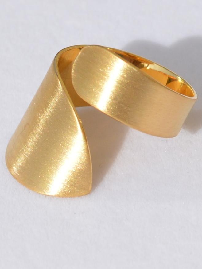 Локон З (кольцо из серебра)