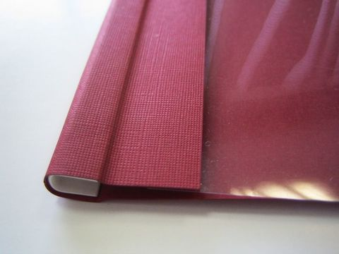 Мягкие обложки C-BIND А4 SOFTCLEAR A (10мм) бордовые (50 шт.)