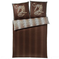 Наволочка 35x40 Elegante Gepard коричневая