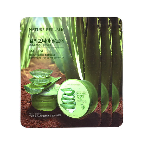 Маска тканевая алоэ California Aloe Vera Mask Sheet от Nature Republic