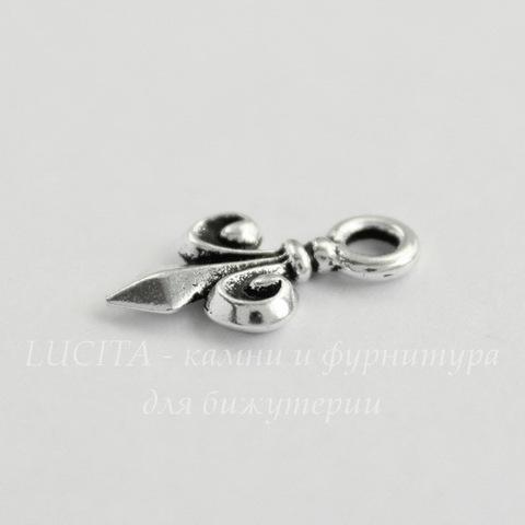 """Подвеска TierraCast """"Fleur-de-Lys"""" (цвет-античное серебро) 15х9 мм"""