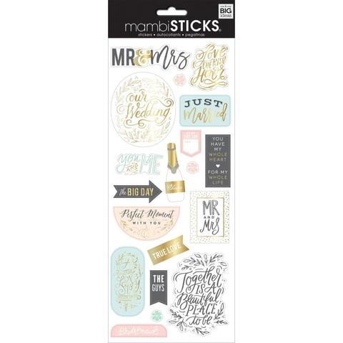 Стикеры ацетатные  mambi Specialty Stickers Mr and Mrs 13х30 см