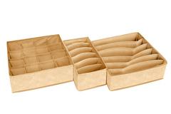 набор из 3-х органайзеров minimalistic sand