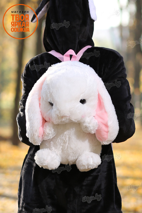 Игрушки с пледом Рюкзачок Кролик Белый bag_rabbit_white.jpg