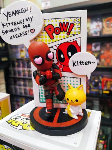Фигурка Deadpool с котиком, 15см