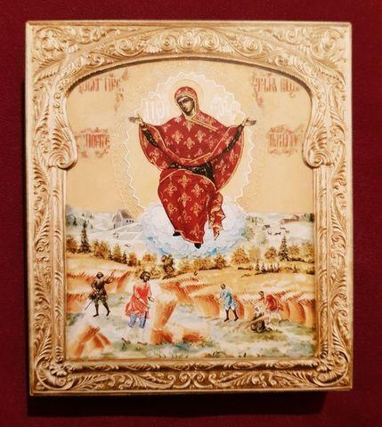 Икона Божией Матери Спорительница Хлебов на дереве на левкасе мастерская Иконный Дом