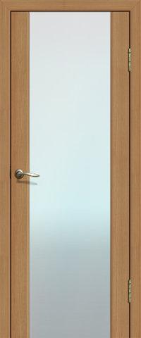 Дверь La Stella 301, стекло матовое, цвет дуб сантьяго, остекленная