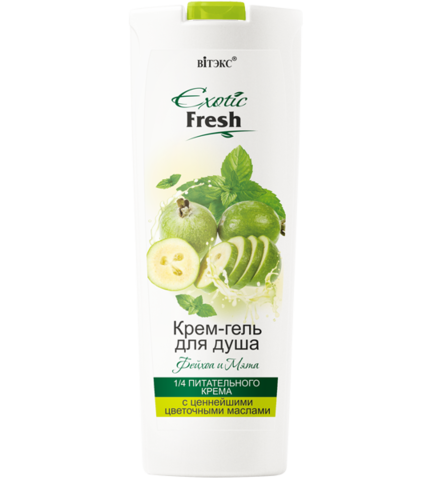 Витэкс Exotic Fresh Крем-гель для душа Фейхоа и Мята 500 мл