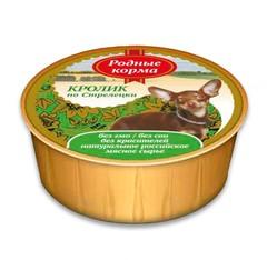 Родные корма консервы для собак Кролик по-стрелецки 125гр
