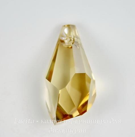 6015 Подвеска Сваровски Polygon Drop Crystal Golden Shadow (21 мм)
