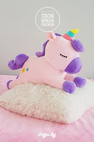 Единорог с пледом Нежно-розовый